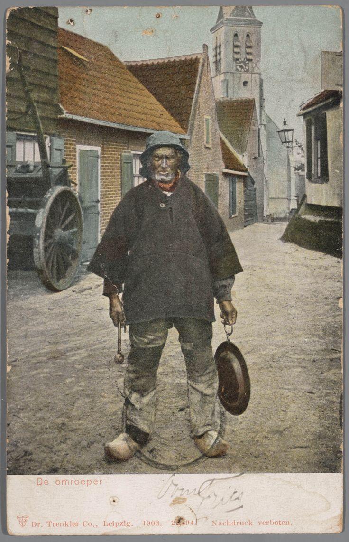 De omroeper van Scheveningen. 1894-1905 #ZuidHolland #Scheveningen