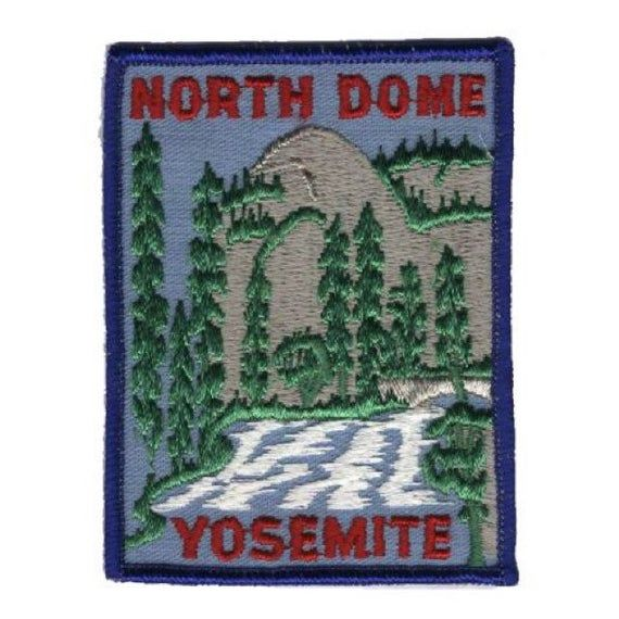 California North Dome Vintage Yosemite National Park Patch Iron on