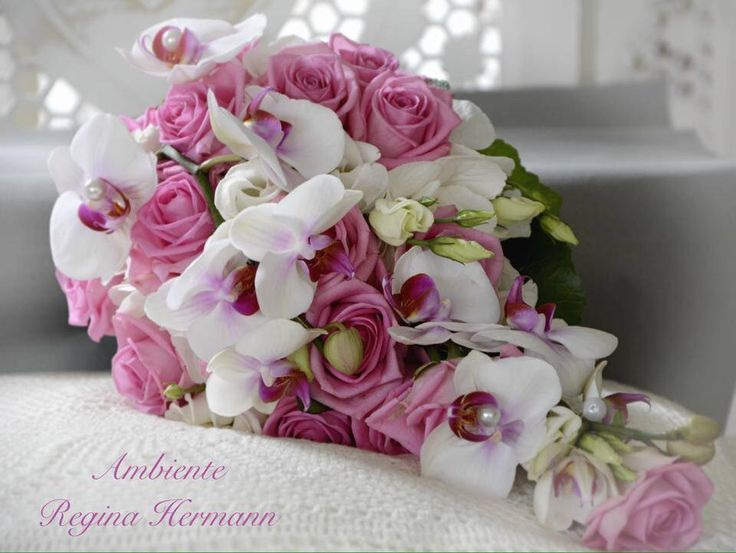 ein edler tropfenform brautstrau mit orchideen brautstrau pinterest wedding. Black Bedroom Furniture Sets. Home Design Ideas
