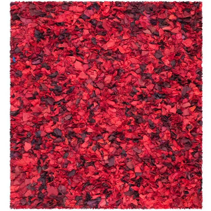 Rio Shag Red/Multi 6 ft. x 6 ft. Square Area Rug
