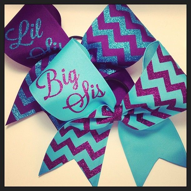 BowXtreme Cheer and Boutique Bows - Big Sis/Lil Sis Chevron Bow, $30.00 (http://www.bowxtreme.com/big-sis-lil-sis-chevron-bow/)