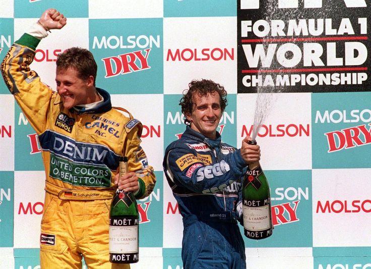 Michael Schumacher & Alain Prost (Canada 1993)