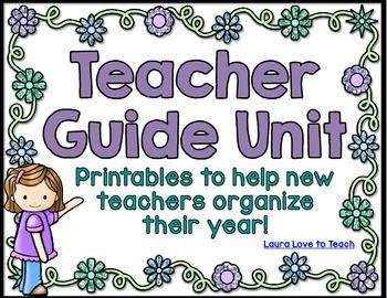 Teacher Printables for Organization and Back to School