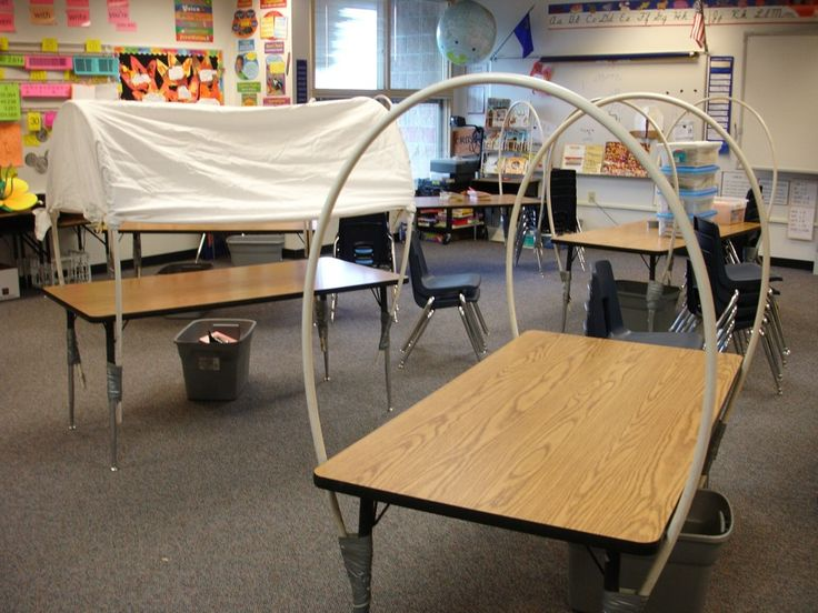 Covered wagon made from table