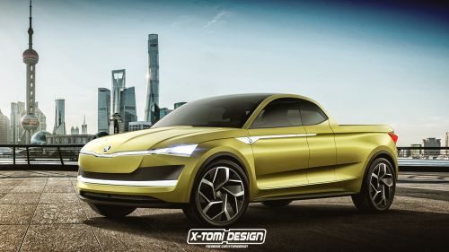 America would you buy the production model of this Skoda Vision E pickup?