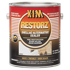 RESTORZ is a fast drying, solvent base stain and odor blocker. It duplicates the sealing properties of both an alkyd sealer and a shellac. For Interior use-spot exterior. Seals knots, pet and nicotine odors along with smoke damage/odors in fire restoration/reclamation work.