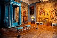 bedroom of Queen Maria Theresa of Spain, first wife of Louis XIV, in Chateau de Chambord, Loire Valley