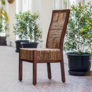 Shop for International Caravan 'Dallas' Woven Abaca Chair with Mahogany Hardwood Trim and Frame. Get free shipping at Overstock.com - Your Online Furniture Outlet Store! Get 5% in rewards with Club O!
