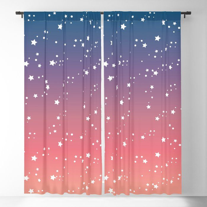 Buy Romantic Night Sky With Stars Blackout Curtain By Kellyleungtadesigns Worldwide Shipping Available At Society6 C Blackout Curtains Curtains Romantic Night