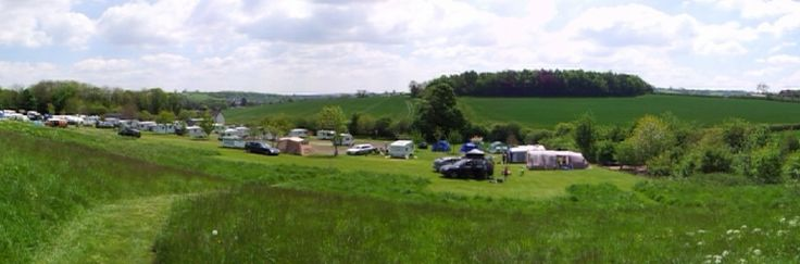 Sytche Caravan Site Much Wenlock Shropshire - small, well kept, clean and beautiful views! Only £14 a night!