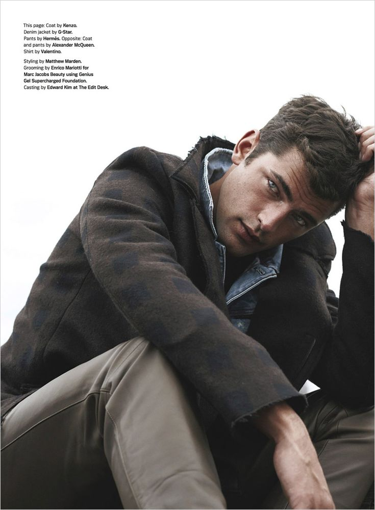 """Sean O'Pry in """"Graphic Design"""" by Tetsu Kubota for the Details Magazine's October 2014 issue"""