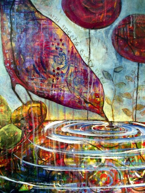 taproot studio: Intuitive Painting Progress and Sketching My World Day 3
