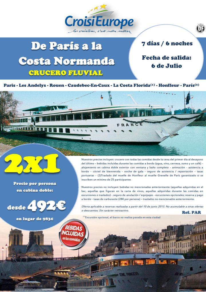 Oferta 2 x 1: Crucero fluvial por el Sena de París a Normandía - http://zocotours.com/oferta-2-x-1-crucero-fluvial-por-el-sena-de-paris-a-normandia-5/