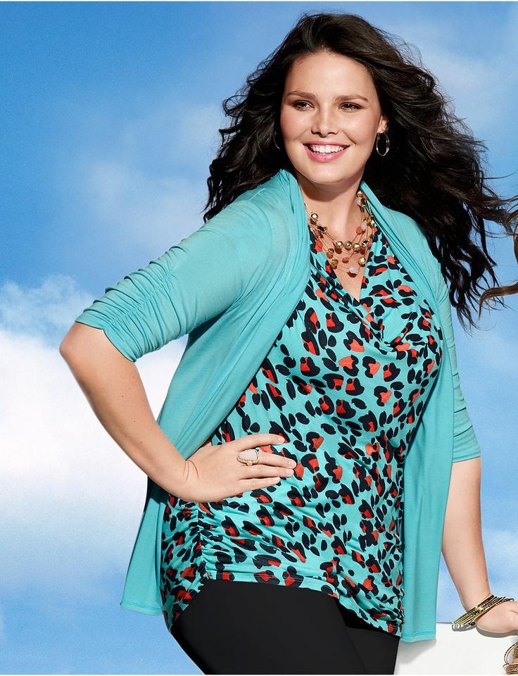 Womens Plus Size Tops, Tees, Cardigans & Blouses   Lane Bryant