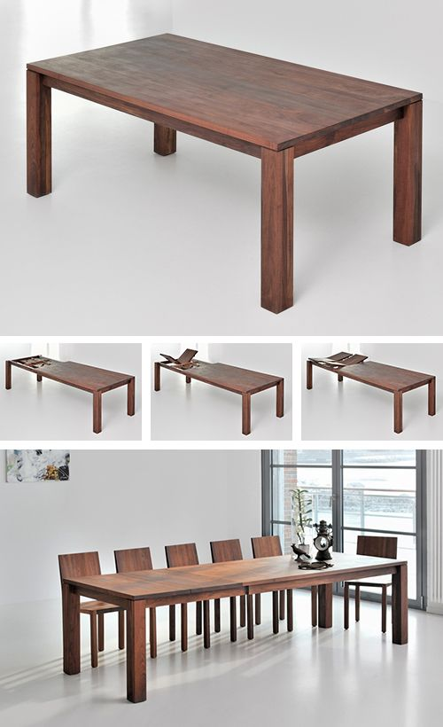 classic extending dining table from solid wood - Designer Wood Dining Tables