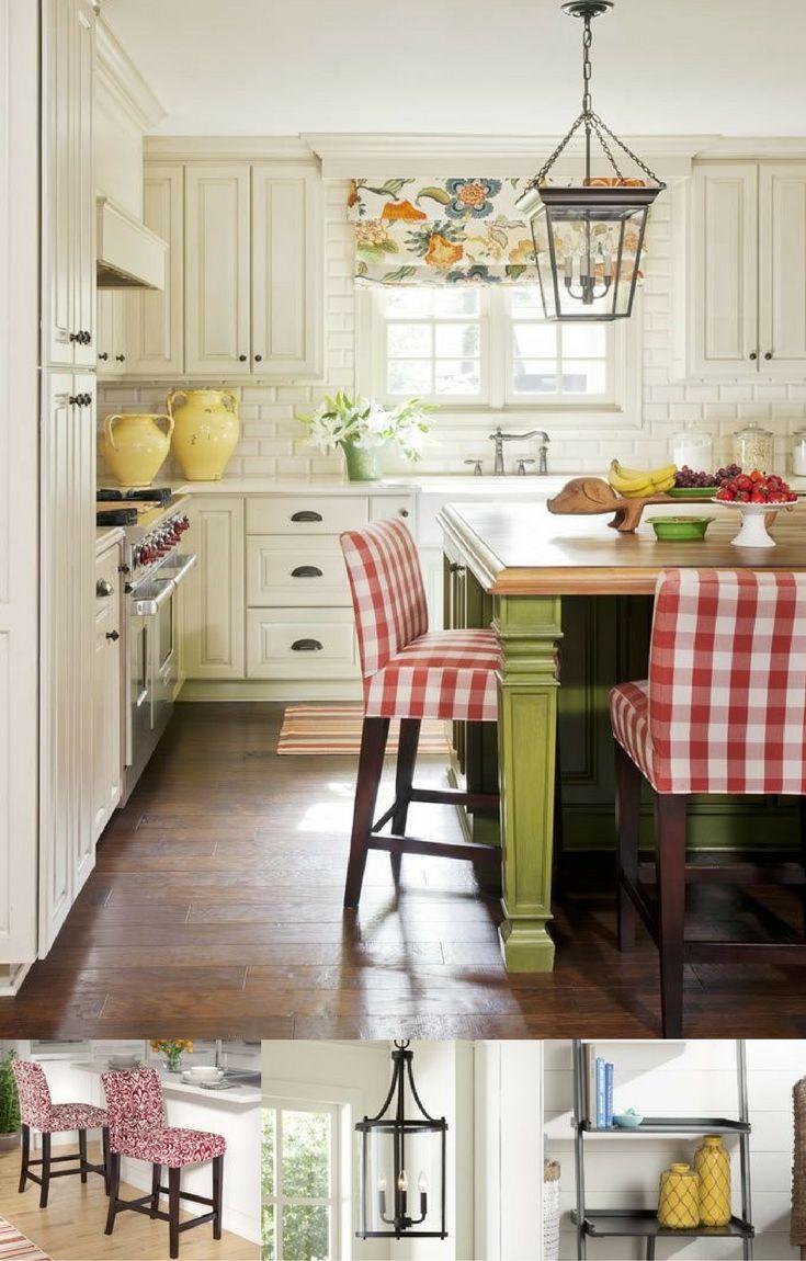 Cute modern farmhouse kitchen (Joanna Gaines style!) I