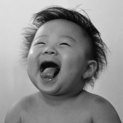 Baby giggles are contagious.