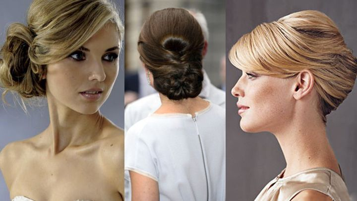 Some hair styles never go out of fashion—a chignon and
