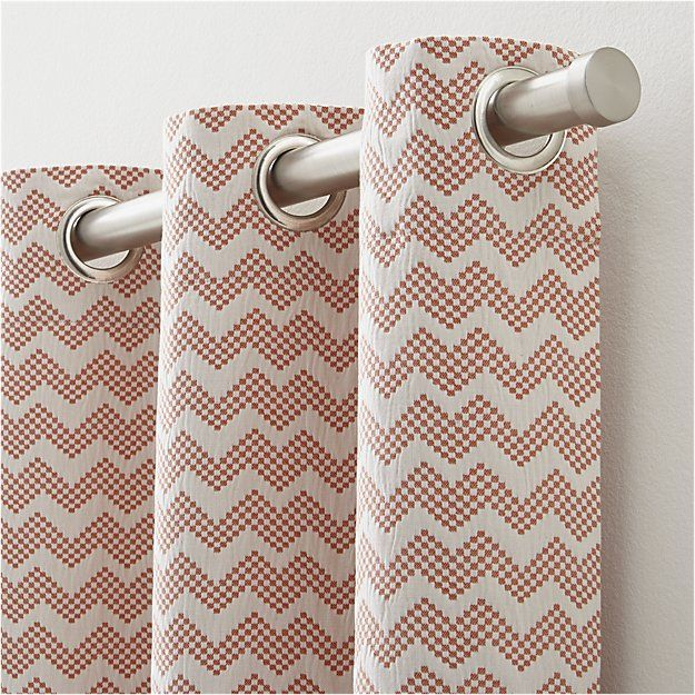 """Reilly Orange Chevron 50""""x84"""" Curtain Panel 