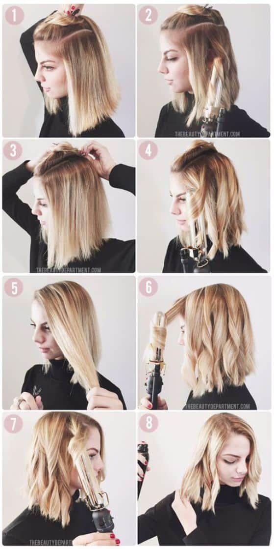 lindos y sencillos peinados de cabello corto que debes probar - Peinado Facil