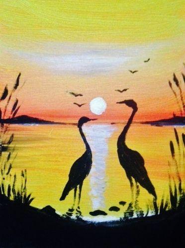 Sunset Bird At The Greene Turtle Aberdeen Paint Nite