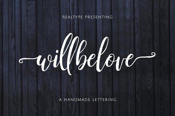 Willbelove Script by Realtype.co on @creativemarket