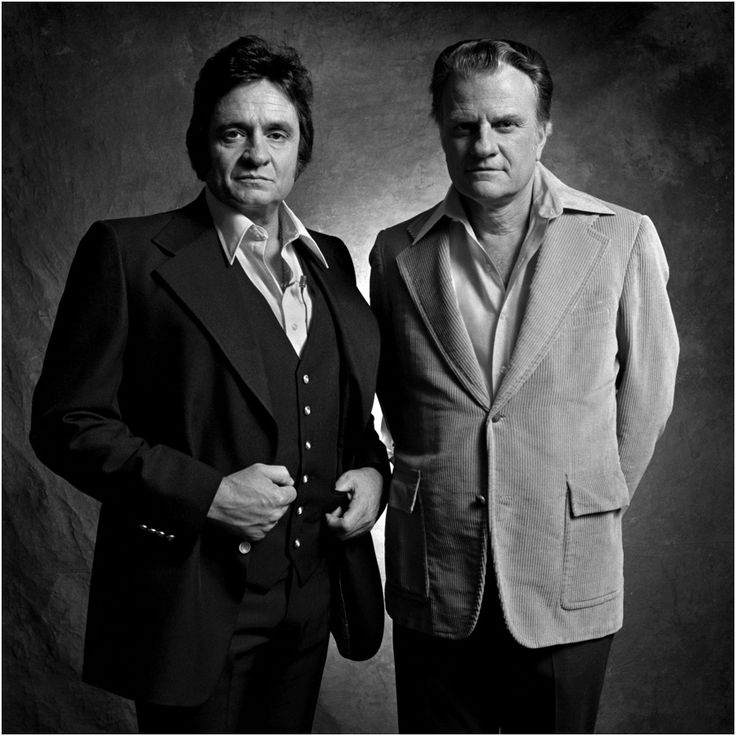 Johnny Cash (1932-2003) and Dr Billy Graham (Born 1918). Great friends for many years, this photograph was made in Nashville in 1978.