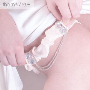 Thelma bridal wedding garter