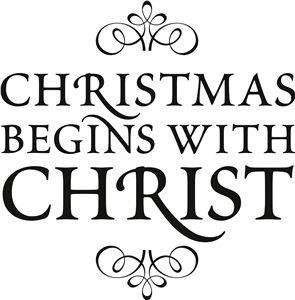 View Design: 'christmas begins with christ' vinyl phrase Cricut