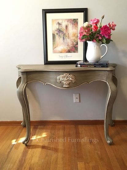 restyled bombay console table, painted furniture