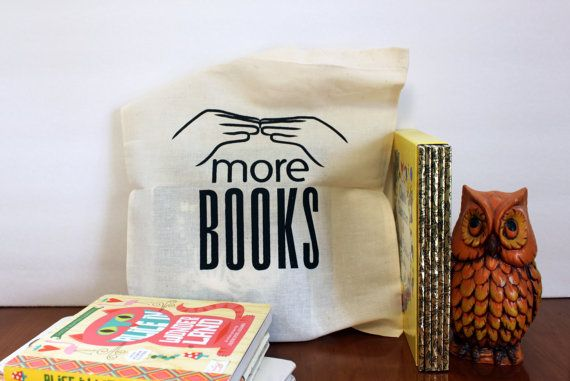 Toddler Tote Bag, More Books Library Tote Bag by rainorshineshop