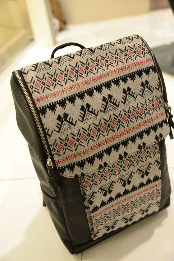 Wholesale Backpacks - Buy Mushroom Female Backpack Vintage Knitted Graphic Geometric Patterns Backpack School Bag, $20.9 | DHgate