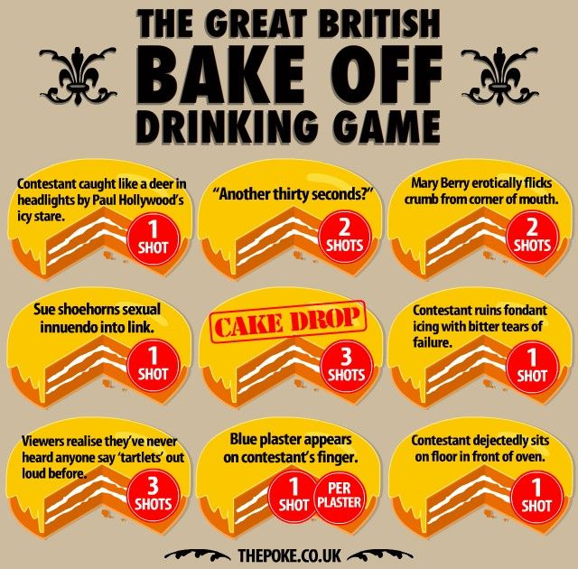 The Great British Bake Off drinking game bakeoff_drinking_game – The Poke: