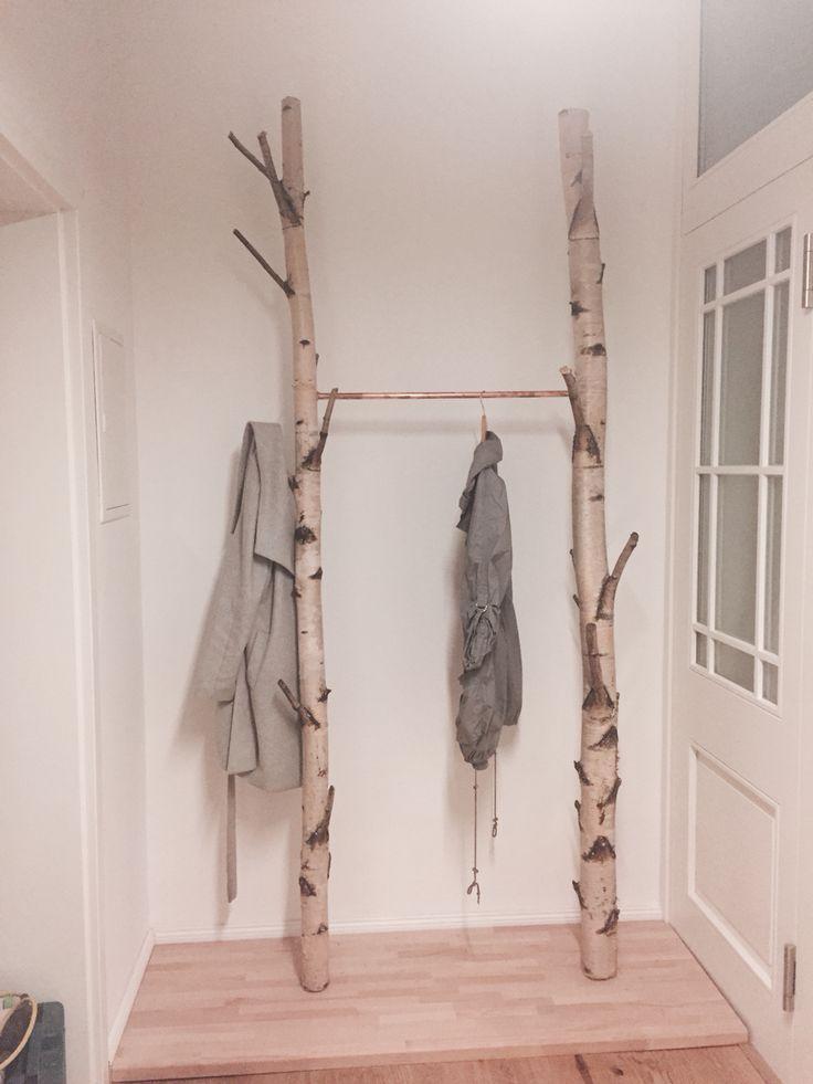 Neue diy Birken Garderobe