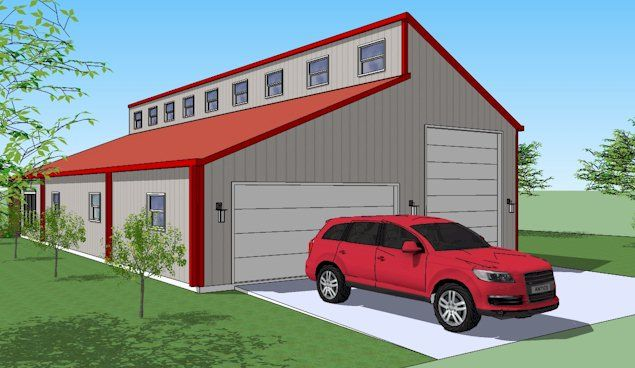 30 best garage plans images on pinterest for 40x80 metal building plans