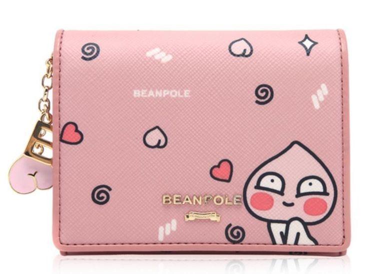 KAKAO Friends x Bean Pole Pink Mini Wallet Miss A Suzy Limited Edition APEACH  #BeanPolexKAKAOFriends #WomenMiniWallet