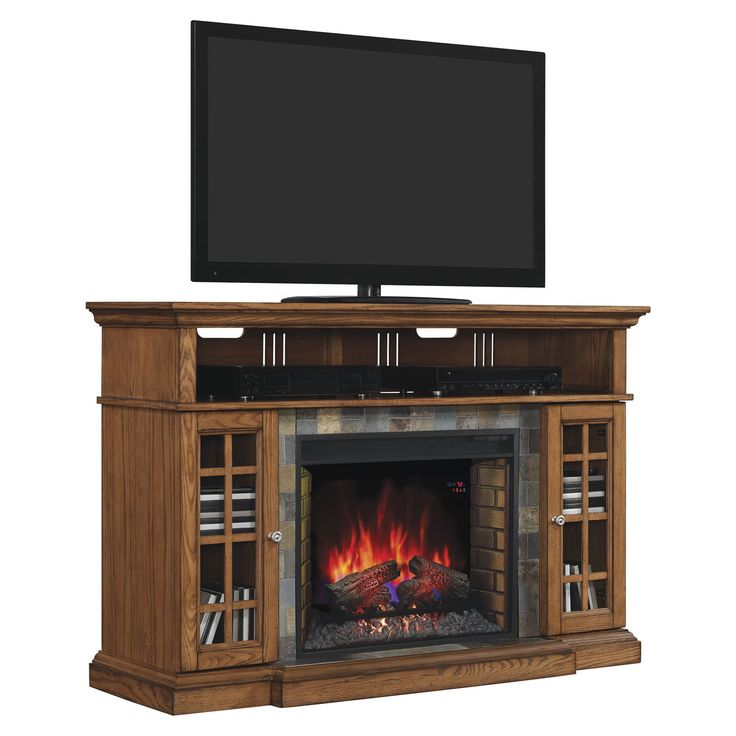 Classic Flame Lakeland Infrared Fireplace Entertainment Center - Traditional charm combines with modern conveniences to make this Classic Flame Lakeland Infrared Fireplace Entertainment Center perfect for any room. ...