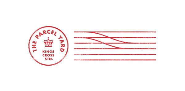 Logo by Designers Anonymous for Fuller's flagship Kings Cross Station pub The Parcel Yard
