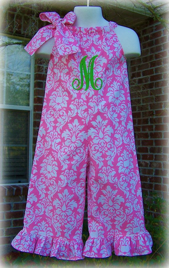 Custom Boutique Clothing Girls Pink and White by sewsweetsmocking, $45.00