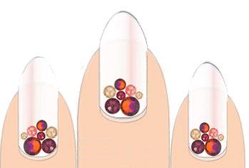 Volcano Swarovski Crystal Nail design kit from www.SHOPnailsdoneright.com #crystalculturestylistLindaReyes #nailbling #swarovski
