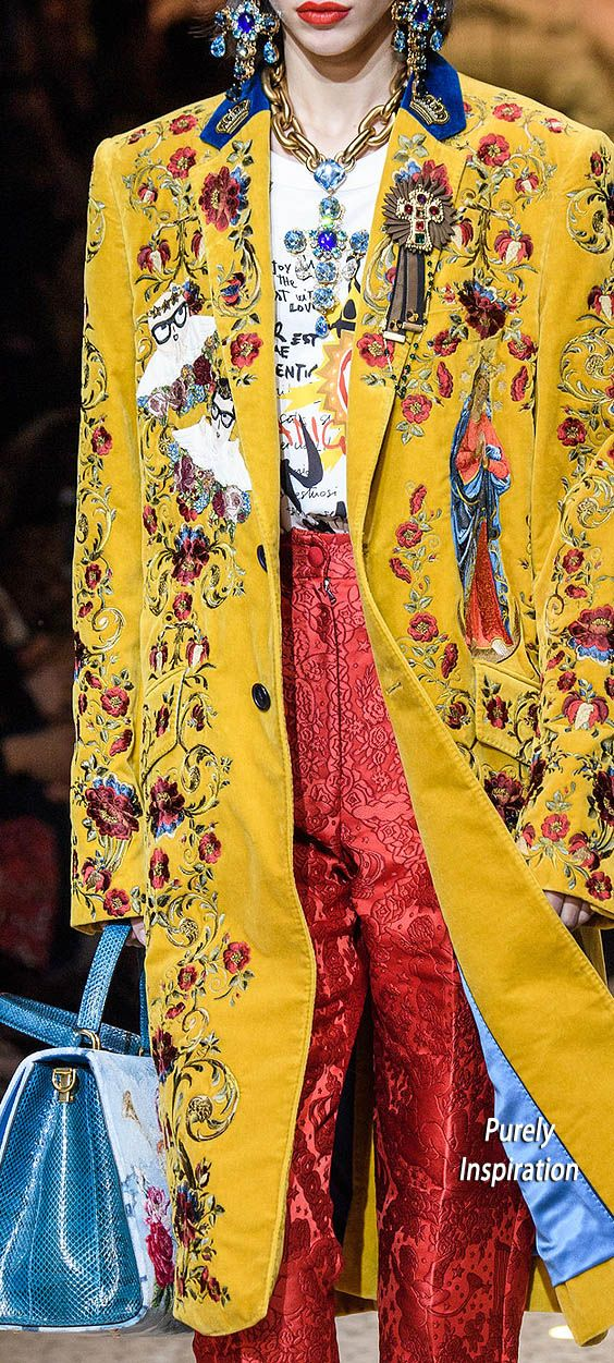 Dolce & Gabbana FW2018 | Purely Inspiration