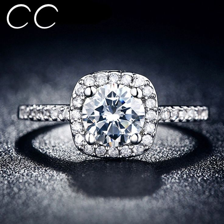 CC Jewelry Midi Finger Square Ring Engagement Wedding Rings for Women Free ships #CCBYX #Trendy