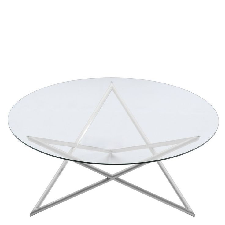 Modern Designer Large Round Coffee Table Glass Top Stainless Steel: 17 Best Ideas About Round Glass Coffee Table On Pinterest
