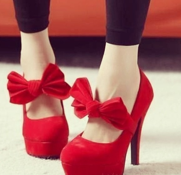 Beautiful red high heels with bows ❤ | Shoes | Pinterest | Red ...