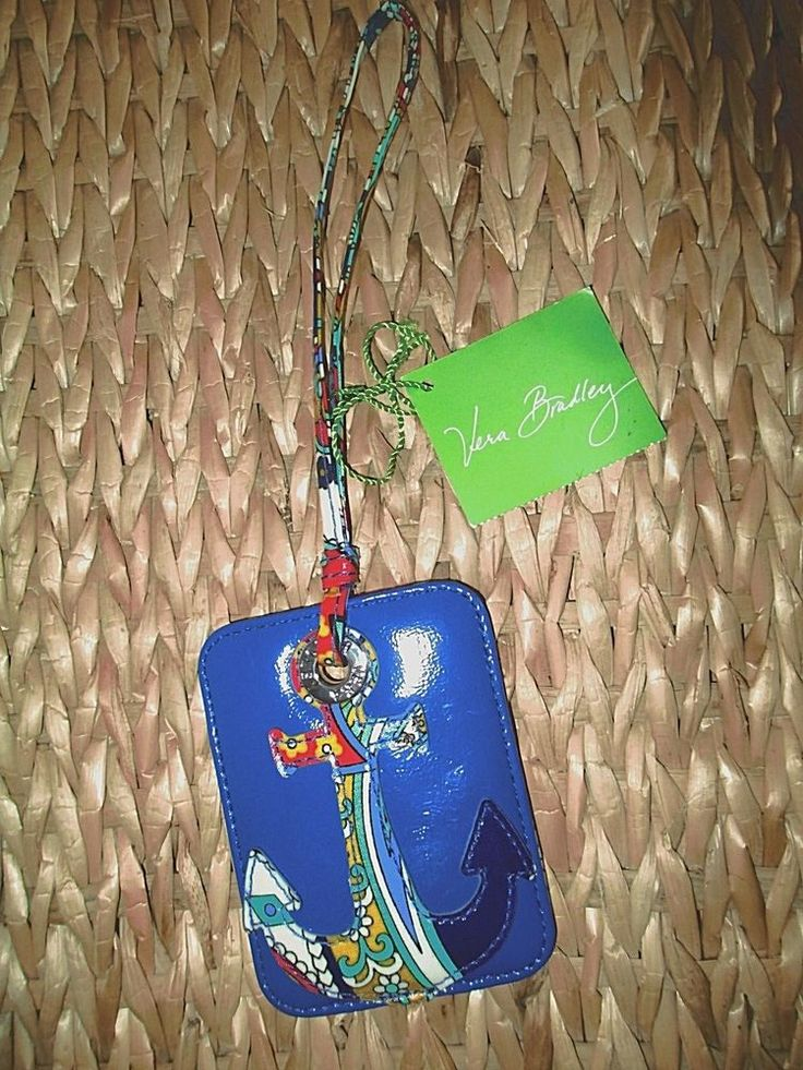 Vera Bradley Luggage Tag Marina Paisley Anchor New #VeraBradley #SummerBeachBag