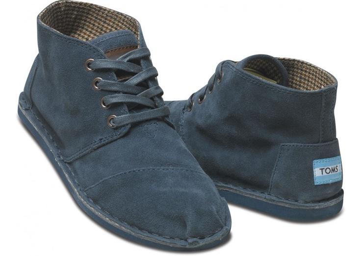toms navy suede women;s desert boots