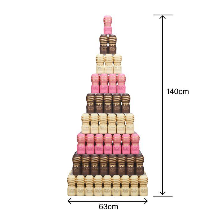今年もあの Tenga がチョコレートになって登場 まるでシャンパンタワー 高さ1 4m 平成最後のバレンタインを華やかに彩る Tengaチョコタワー 発売 株式会社 Tengaのプレスリリース タワー シャンパンタワー チョコ
