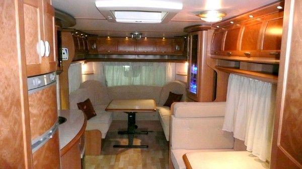 hobby caravan interior large caravans pinterest. Black Bedroom Furniture Sets. Home Design Ideas