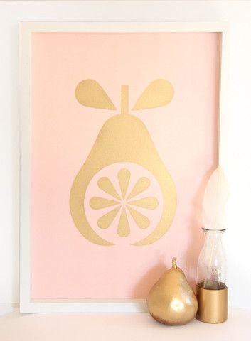 Cloud Nine Creative - Pink Pear Print - A3