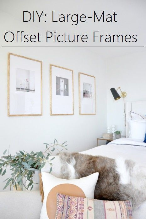 DIY:  Large-Mat Offset Picture Frames